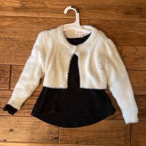 Cat & Jack Holiday Sweater Dress Set 2T